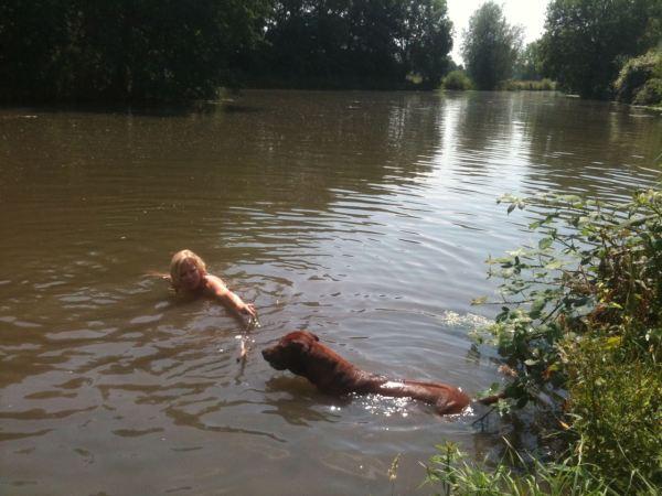 zwemmen met Floris